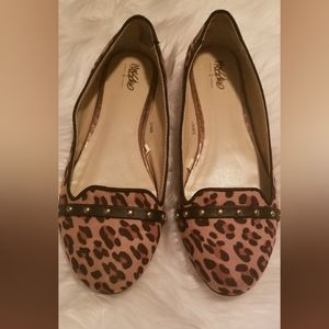 Leopard/ Cheetah Studded Flats / Loafers